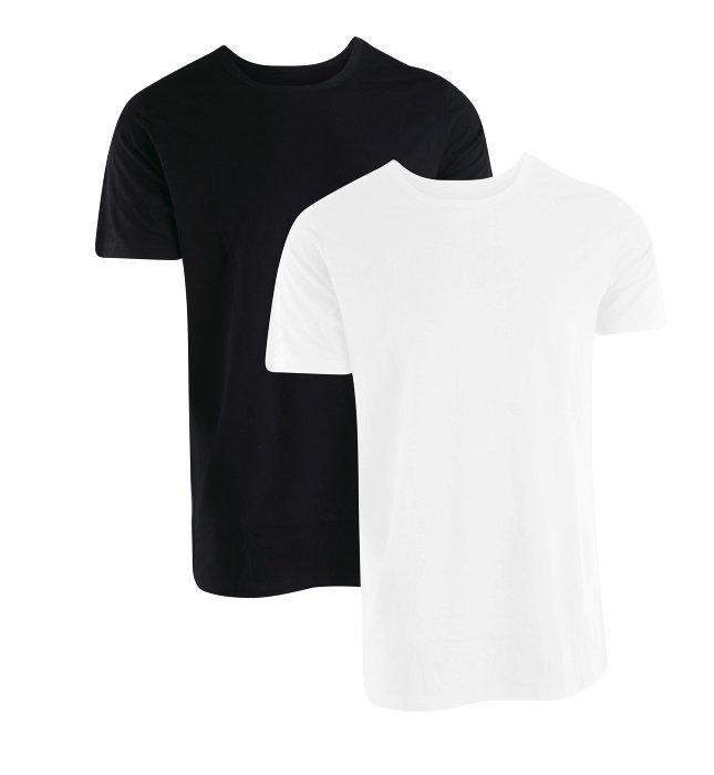 T-shirts 2-pk sort eller hvid
