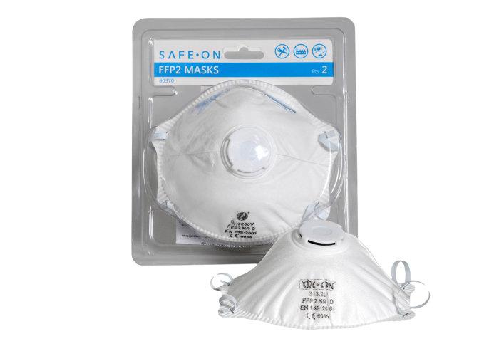 Skyddsmask med ventil