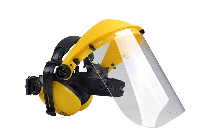 Oregon høreværn med plexiglas-visir