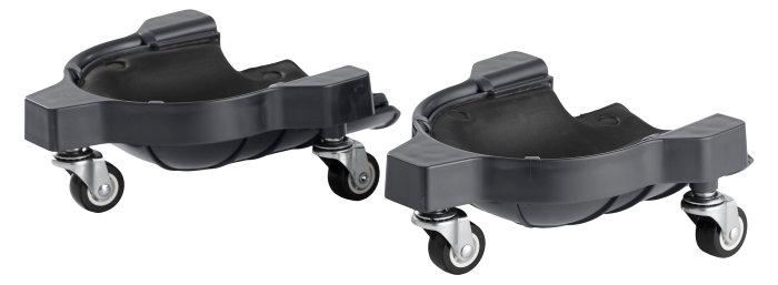 Knæpuder med hjul - 2 stk.