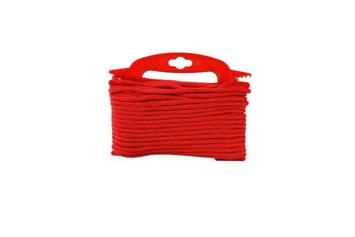 Flisesnor rød Ø6 mm 20 meter
