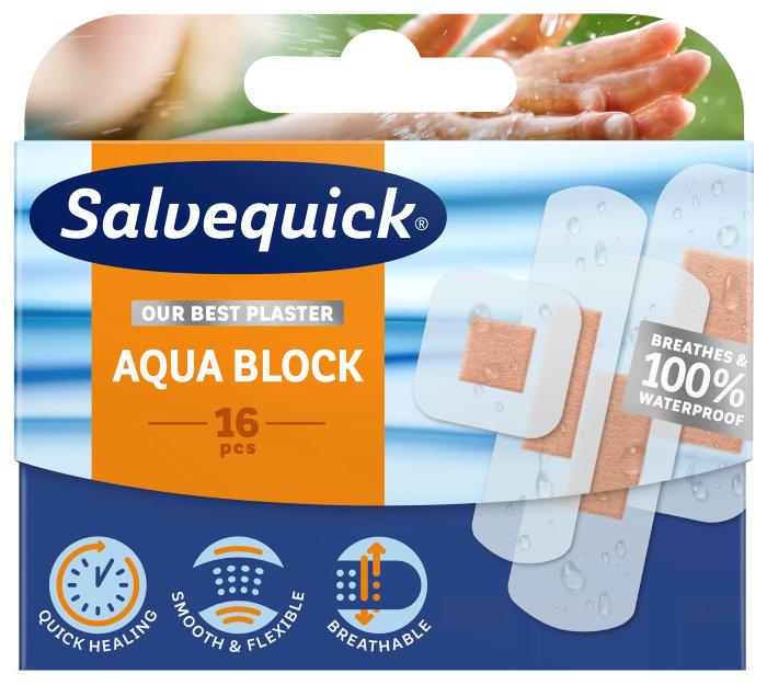 Plaster Salvequick Aqua Block – 16 stk.