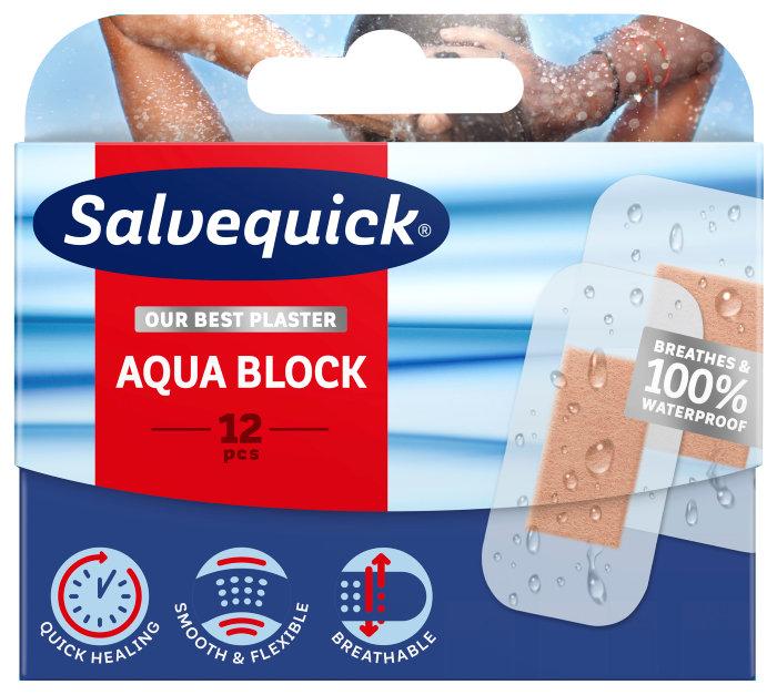 Plaster Salvequick Aqua Block – 12 stk.