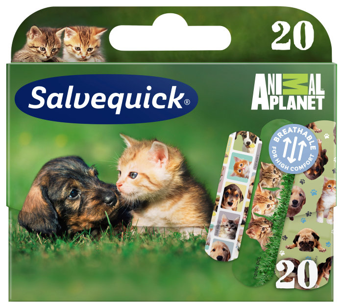 Børneplaster Salvequick Animal Planet – 20 stk.