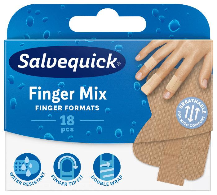 Plaster Salvequick Finger Mix – 18 stk.