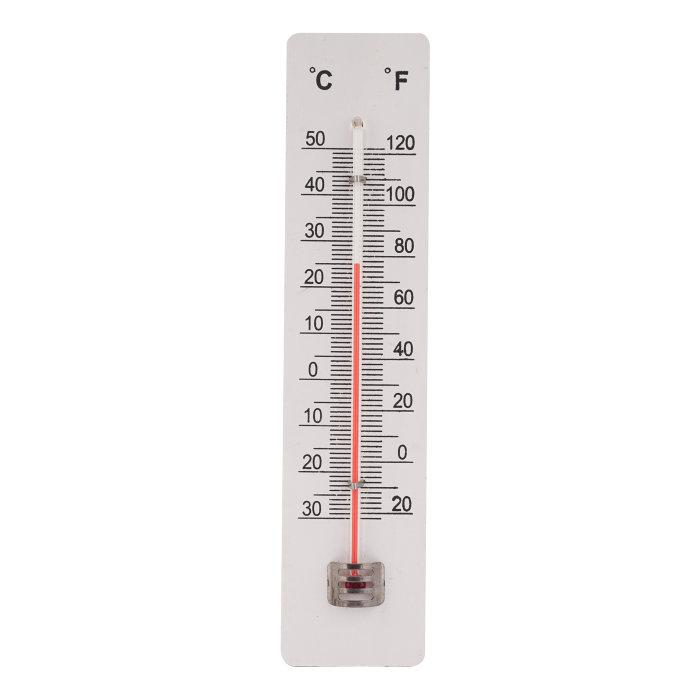 Termometer inne/ute hvitt