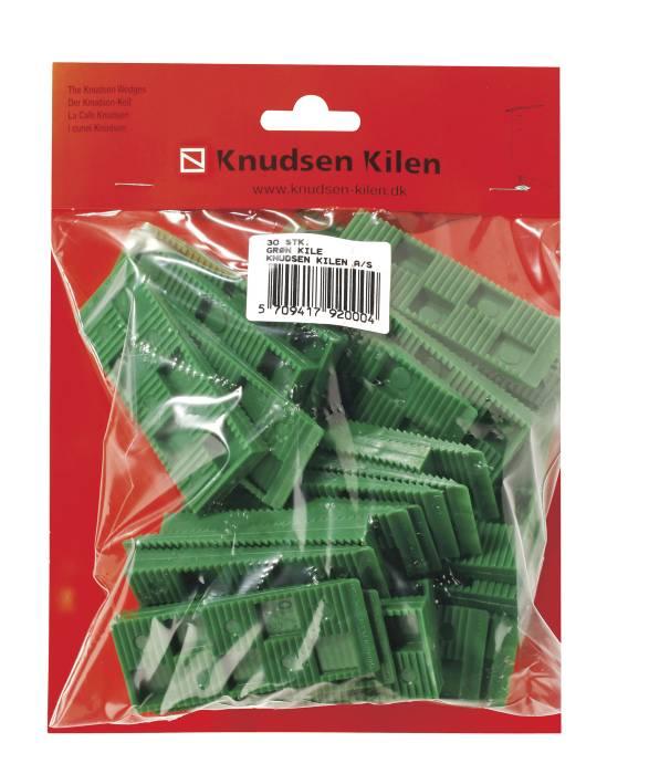 Grøn kile - 30 stk.