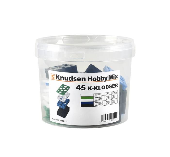 Knudsen Kilen K-klodser - 45 stk