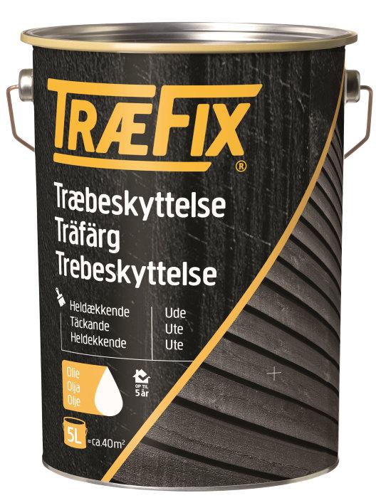 Træbeskyttelse heldækkende svenskrød 5 l - Træfix