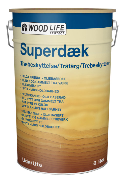 Træbeskyttelse heldækkende hvid 6 l - Woodlife