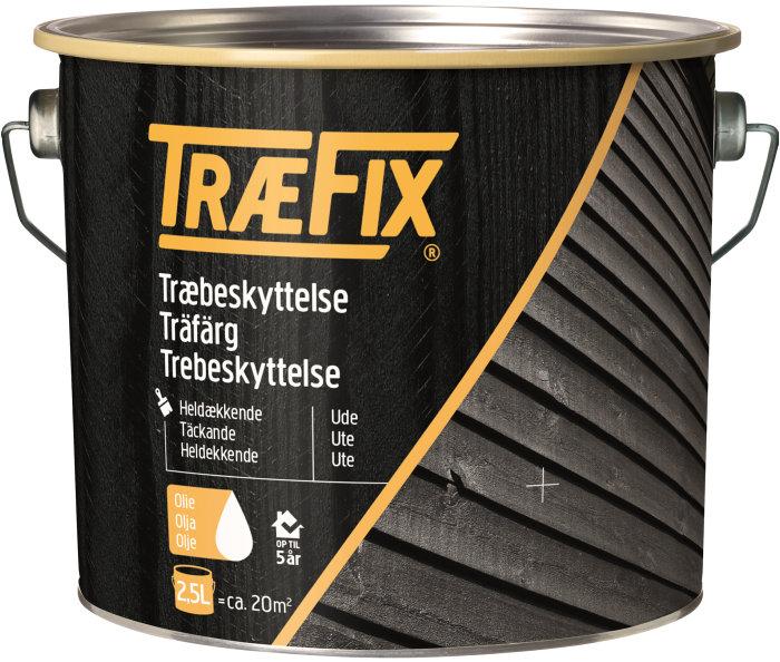 Træbeskyttelse heldækkende sort 2,5 l - Træfix