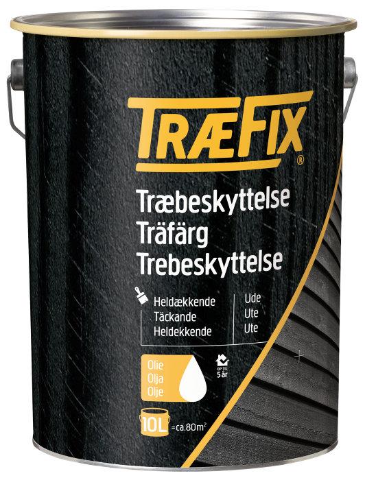 Træbeskyttelse heldækkende sort 10 l - Træfix