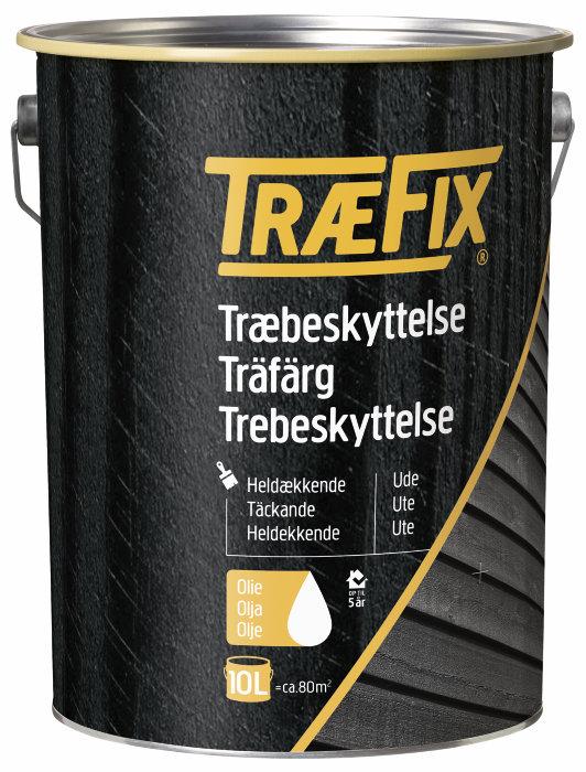 Trebeskyttelse heldekkende svart 10 l - Træfix