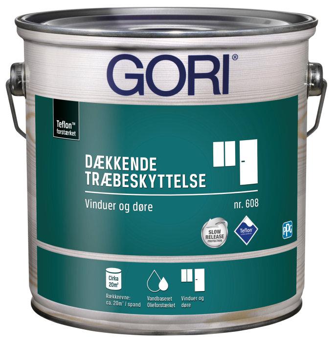 GORI 608 dækkende vinduesmaling hvid 2,5 liter