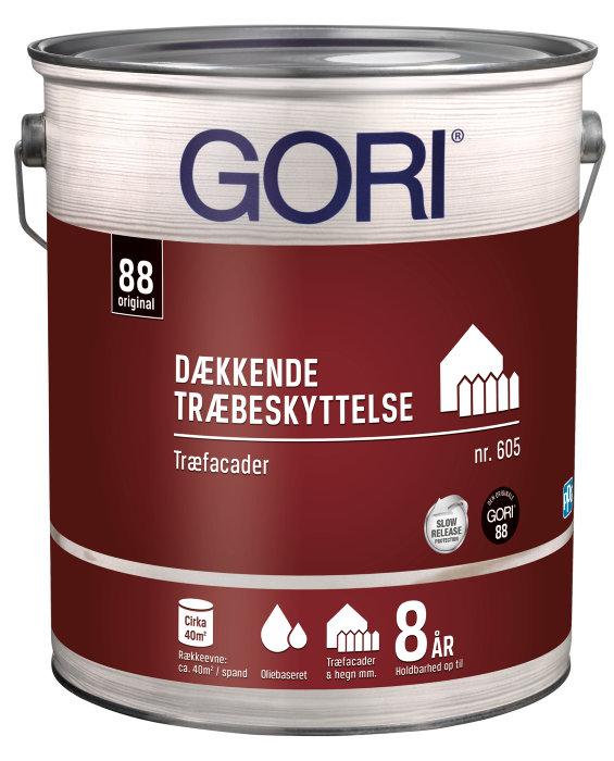 GORI 605 dækkende træbeskyttelse kulsort 5 liter