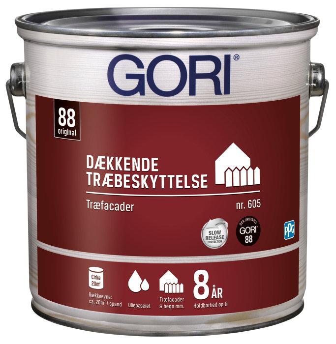 GORI 605 dækkende træbeskyttelse kulsort 2,5 liter