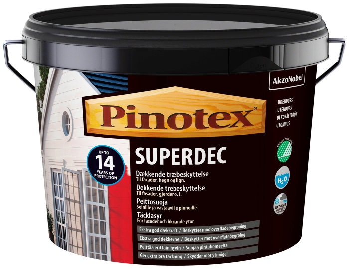 Pinotex Superdec heldækkende svenskrød 5 liter