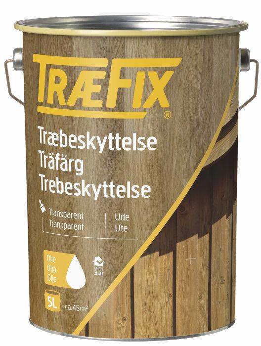 Trebeskyttelse transparent grønn umbra 5 liter – Træfix