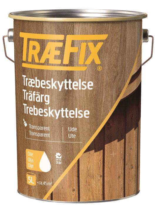 Træbeskyttelse transparent sort 5 l - Træfix
