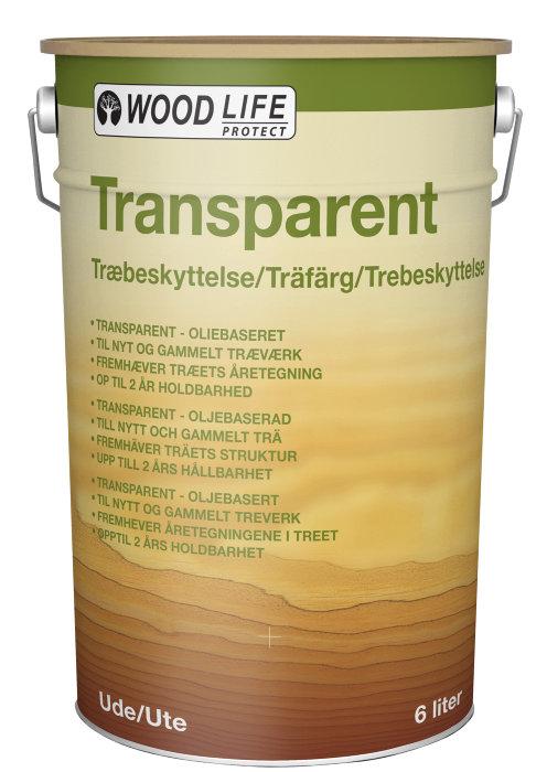 Træbeskyttelse transparent klar 6 l - Woodlife