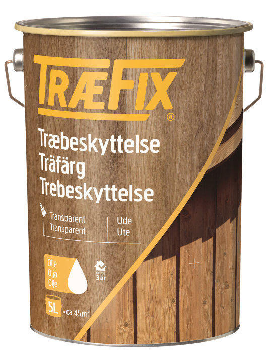 Træbeskyttelse transparent sortbrun 5 l - Træfix
