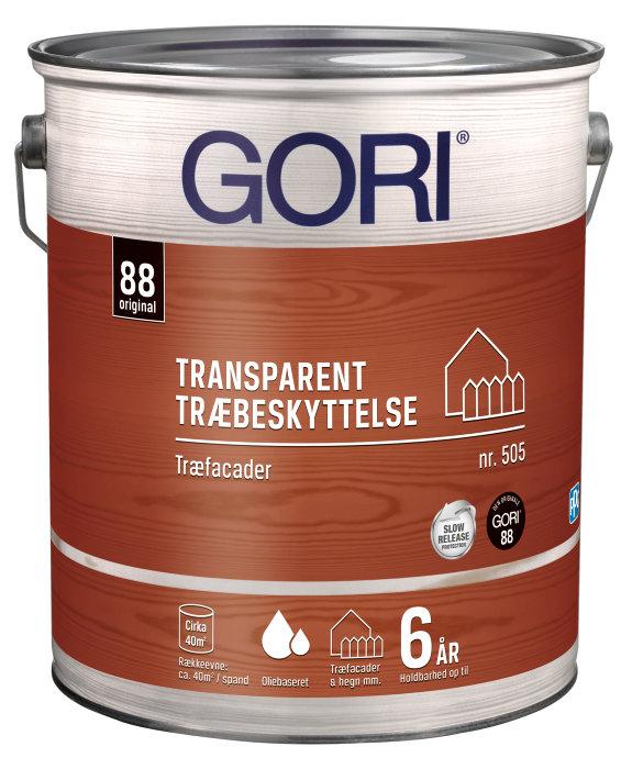 GORI 505 transparent træbeskyttelse nød 5 liter