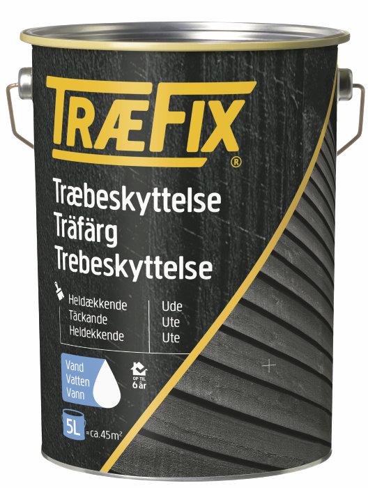Trebeskyttelse heldekkende 5 liter svenskerød - Træfix