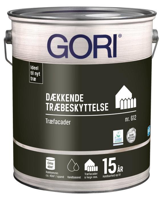 GORI 612 dækkende træbeskyttelse grøn umbra 5 liter