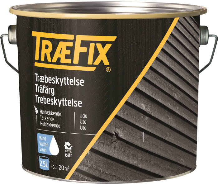 Træbeskyttelse heldækkende sort 2,5L - Træfix