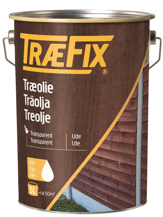 Træolie transparent grøn 5 liter - Træfix