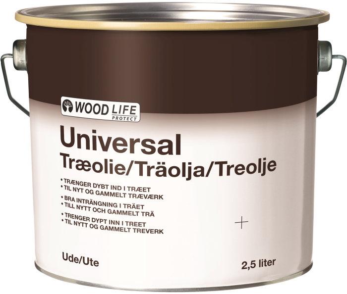 Træolie transparent klar 2,5 liter - Woodlife