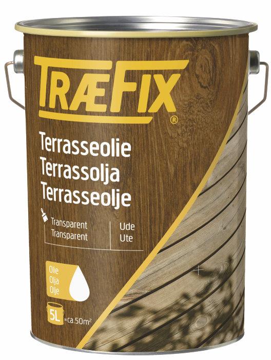 Terrasseolje transparent nyatoh 5 liter - Træfix