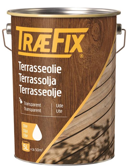 Terrasseolie transparent teak 5 liter - Træfix