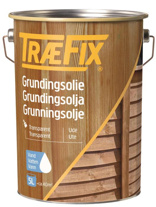 Grundingsolie vandbaseret klar 5 liter - Træfix