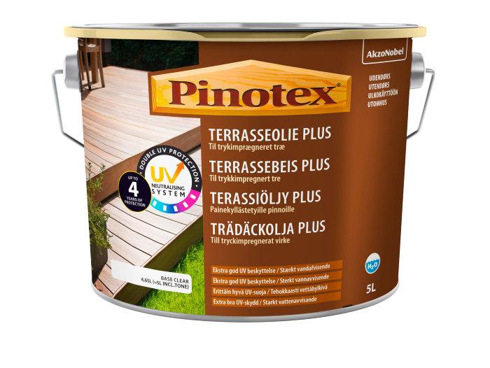 Pinotex Terrasseolie Plus klar 4,65 liter