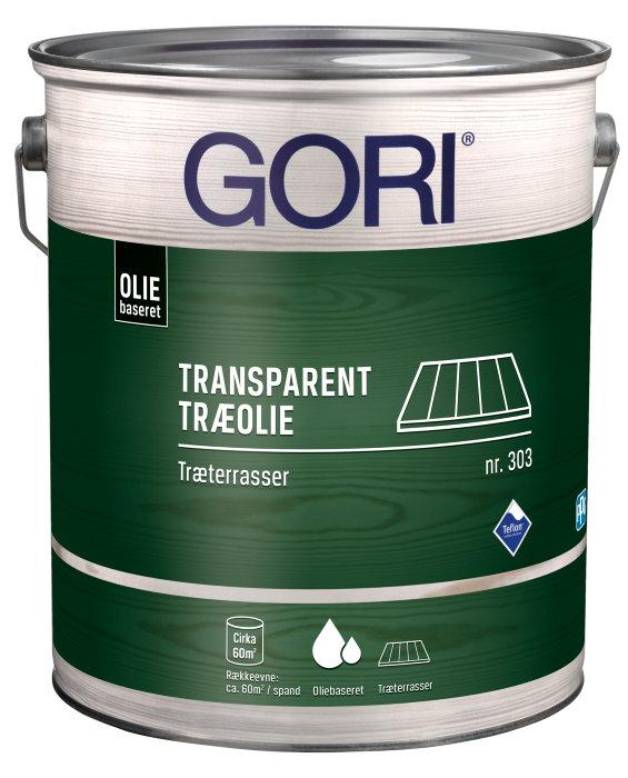 GORI 303 transparent træolie terrasser midnatsgrå 5 liter