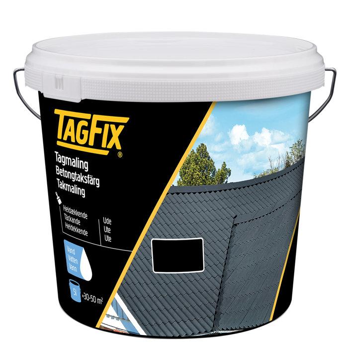 Tagmaling vandbaseret sort 5 liter - Tagfix