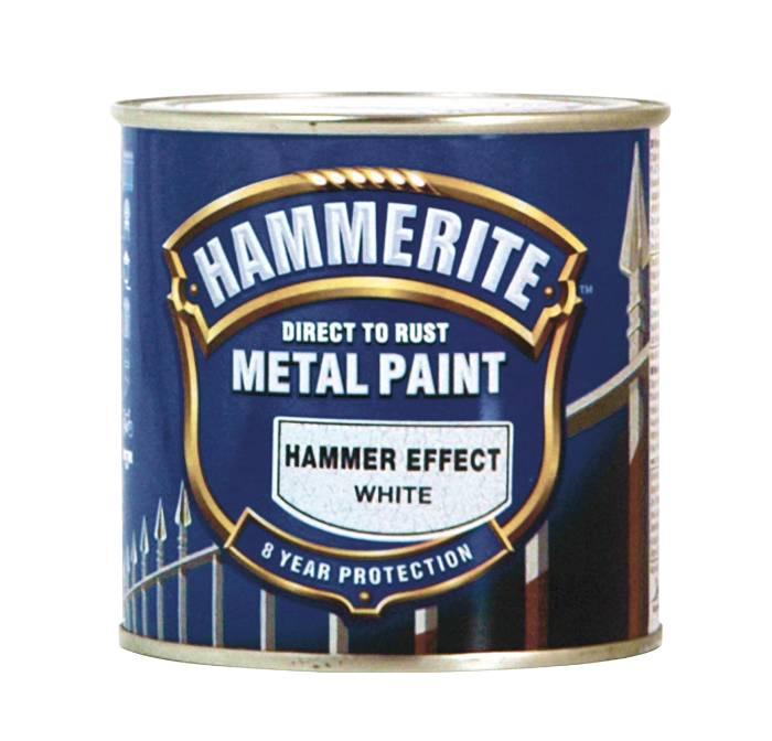 Hammerite metalmaling hvid hammereffekt 250 ml