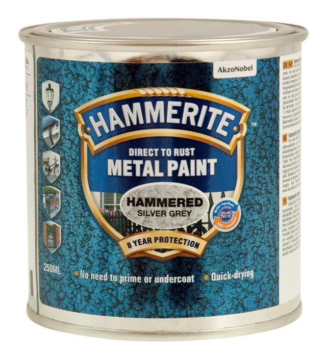 Hammerite metalmaling sølv hammereffekt 250 ml