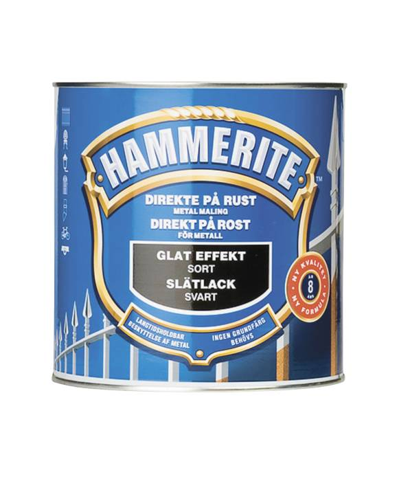 Hammerite metalmaling sort glat effekt 750 ml