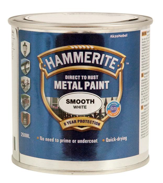 Hammerite metalmaling hvid glat effekt 250 ml