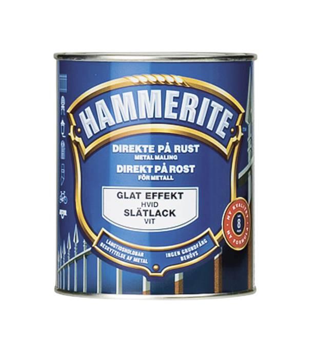 Hammerite metalmaling hvid glat effekt 750 ml