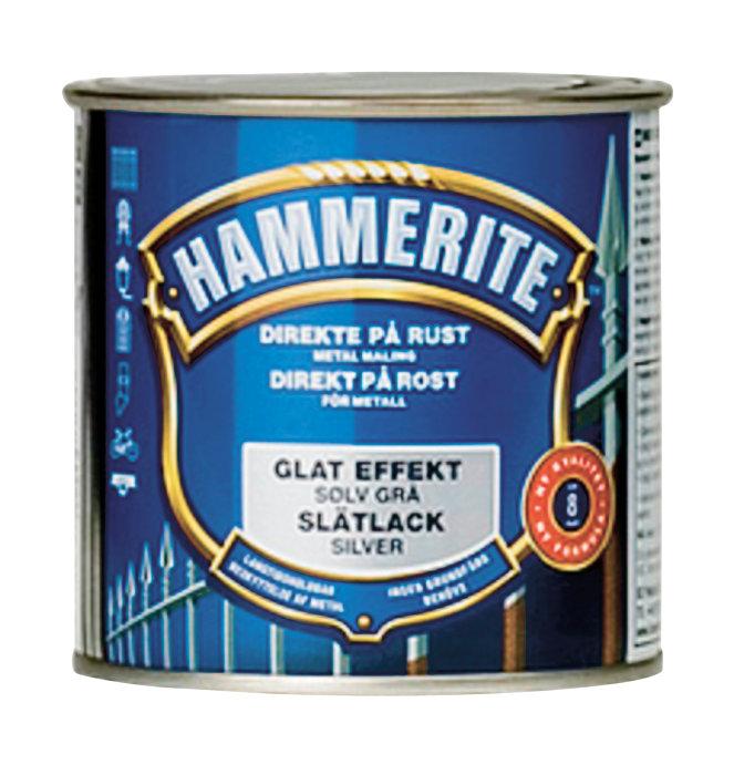 Hammerite glatt sølv 250 ml