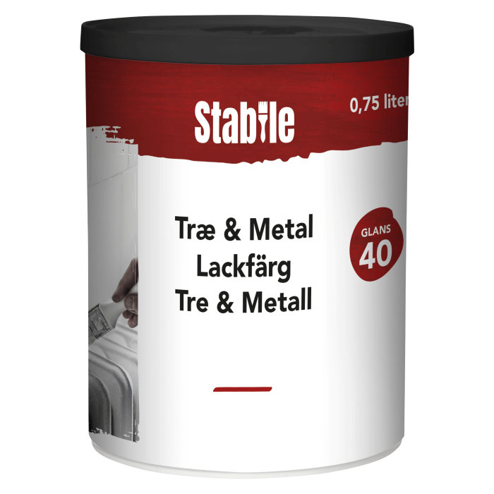 Træ- & metalmaling modehvid vandbaseret 0,75 l - Stabile