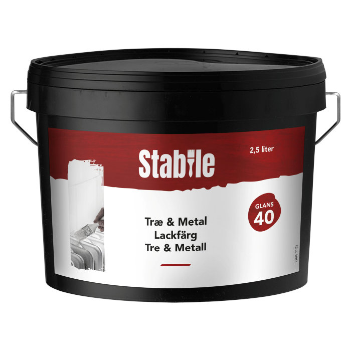Træ- & metalmaling modehvid vandbaseret 2,5 l - Stabile