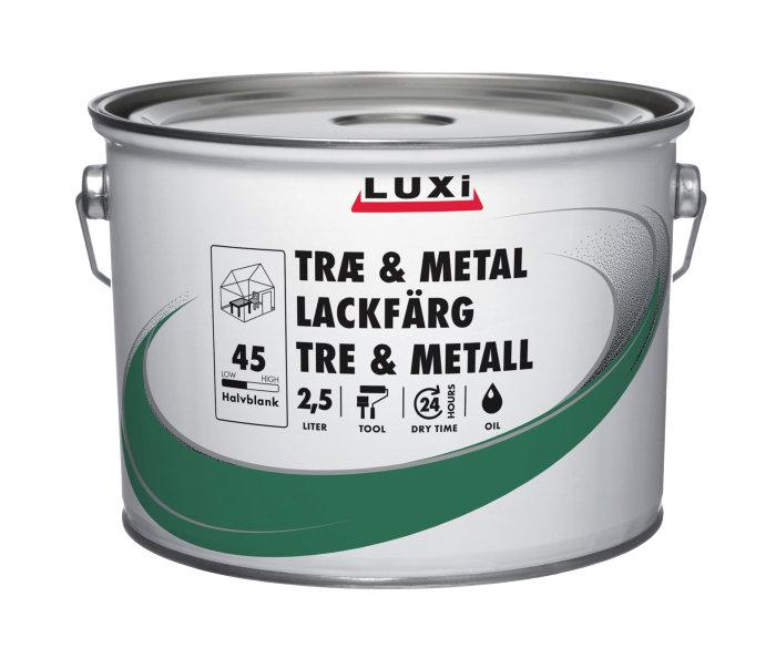Træ- & metalmaling oliebaseret hvid 2,5 l - Luxi