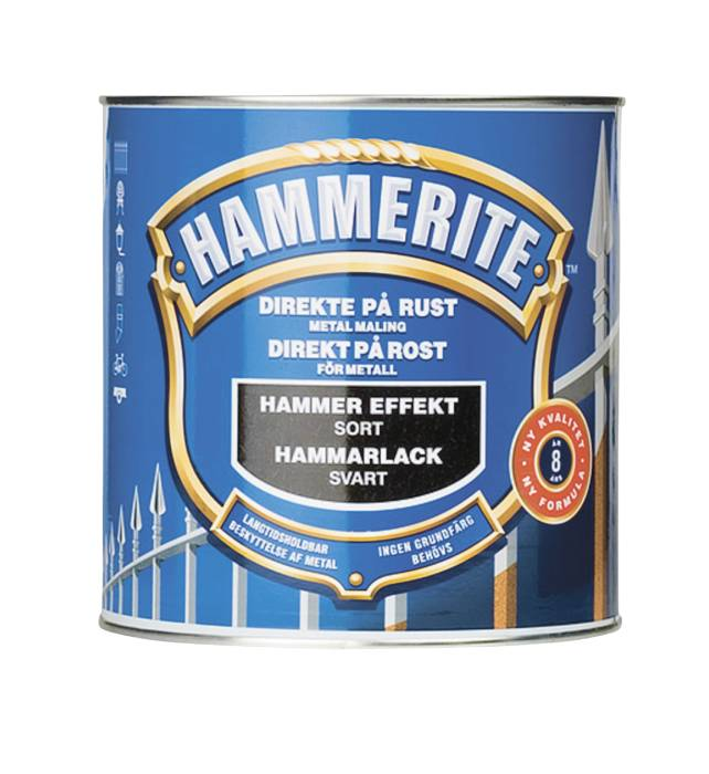 Hammerite metalmaling sort hammereffekt 750 ml