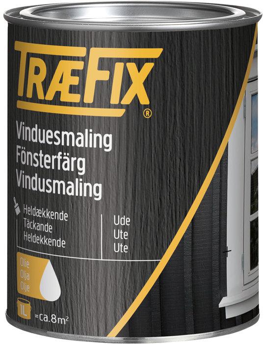 Vinduesmaling oliebaseret renhvid 1 liter - Træfix
