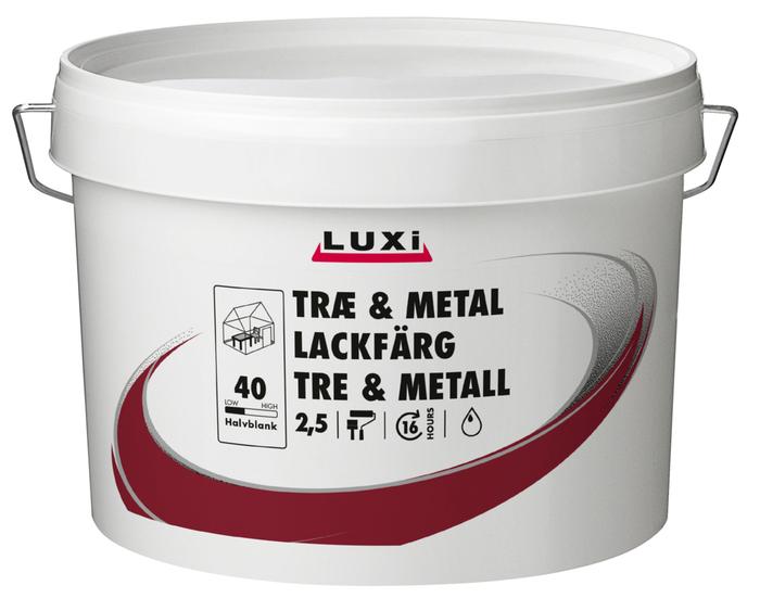 Træ- & metalmaling vandbaseret renhvid 2,5 l - Luxi