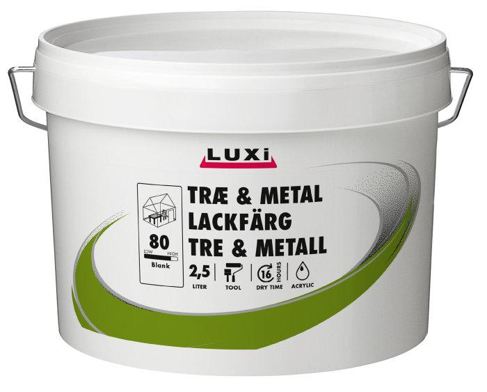 Træ- & metalmaling vandbaseret modehvid 2,5 l - Luxi